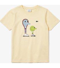 camiseta lacoste x jeremyville amarelo - amarelo - menino - dafiti