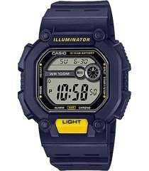 reloj casio w737h-1a2vdf azul resina