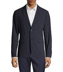 clinton function seersucker textured blazer