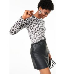 charter club cashmere animal-print crewneck sweater, created for macy's