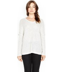 ford v-neck draped sweater - l ice stripe