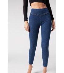 calzedonia leggings jeans skinny woman blue size xs
