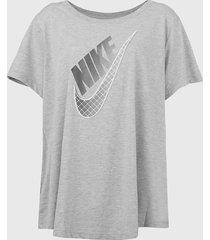 camiseta nike sportswear prep futu cinza
