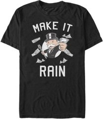 monopoly men's make it rain short sleeve t-shirt