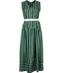 waistcoat leather belted dress
