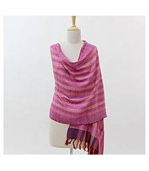 silk shawl, 'colors of india' (india)