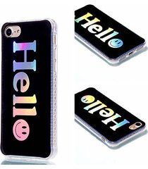 iphone 7 case,iphone 8 case,xyx [hello] colorful plating transparent slim scratc