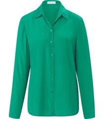 blouse in overhemdmodel met lange mouwen van st. emile groen