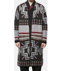trench coat uomo manica lunga media lunghezza modello trench coat sottile fit cardigan casual