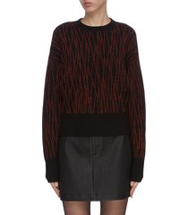 'betia' abstract pattern wool knit sweater