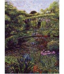 "david lloyd glover the artist's garden giverny canvas art - 15"" x 20"""