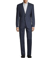 guabello slim-fit windowpane wool suit