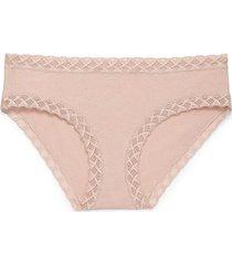 natori intimates bliss girl brief panty, women's, 100% cotton, size s