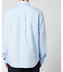 kenzo men's tiger crest oxford shirt - light blue - 44/18