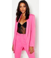 tall tailored blazer, hot pink