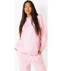 tall oversized hoodie, pale pink