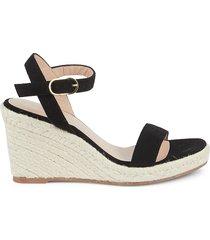 stuart weitzman women's teddi rope trim wedge sandals - adobe - size 10 b