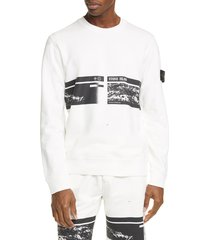 men's stone island drone three crewneck sweatshirt