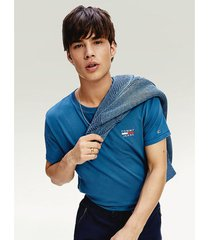camiseta de algodón orgánico con logo azul tommy jeans