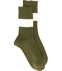 brunello cucinelli paneled socks - green