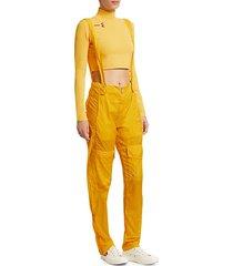 nylon overall pants