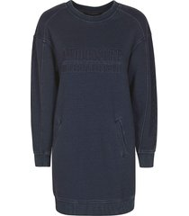 alberta ferretti embossed logo ribbed sweatshirt