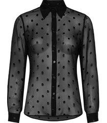 3179 - latia blouse lange mouwen zwart sand