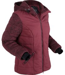giacca trapuntata con jersey e pile (rosso) - bpc bonprix collection
