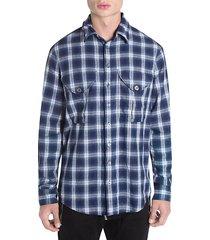 plaid military-fit shirt