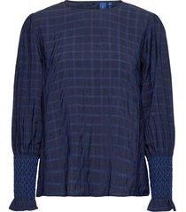 anabelle blouse blus långärmad blå résumé