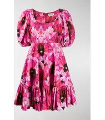 alexander mcqueen abstract floral print dress