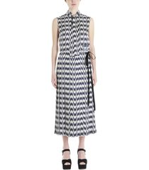 prada chevron dress