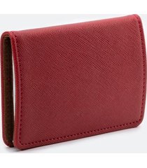 katy covered metal card case - red