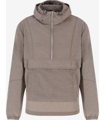 ax armani exchange men's half-zip ripstop hooded jacket