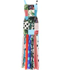 dolce & gabbana long patchwork dress