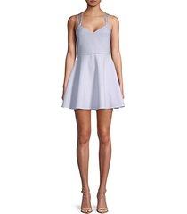crossback fit-&-flare dress