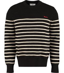 ami alexandre mattiussi virgin wool crew-neck sweater