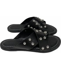 sandalia negra xana mika
