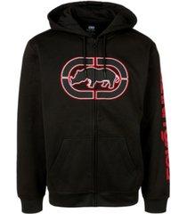 ecko unltd men's bedrock full zip hoodie