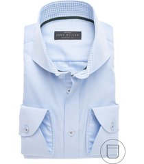 john miller modern fit strijkvrij hemd lichtblauw