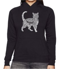 la pop art women's word art hooded sweatshirt - cat