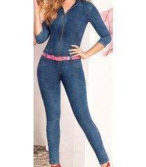 enterizo jessie azul para mujer croydon