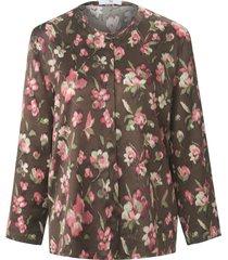 blouse 7/8-mouwen van peter hahn bruin