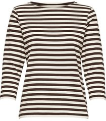 ilma shirt t-shirts & tops long-sleeved bruin marimekko