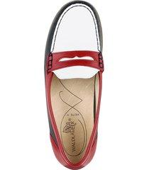 loafers waldläufer blå::vit::röd