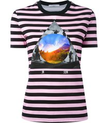 givenchy stripe 'full moon' t-shirt - purple