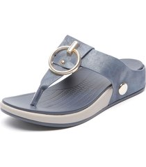 sandalia azul chalada