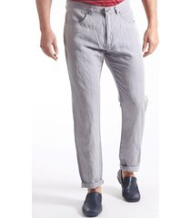 pantalón gris mancini lino