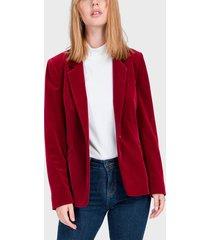 blazer io terciopelo rojo - calce regular