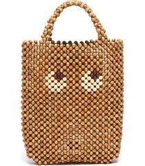 'eyes' beaded small tote